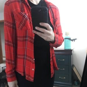 Tops - Dressy flannel, size sm